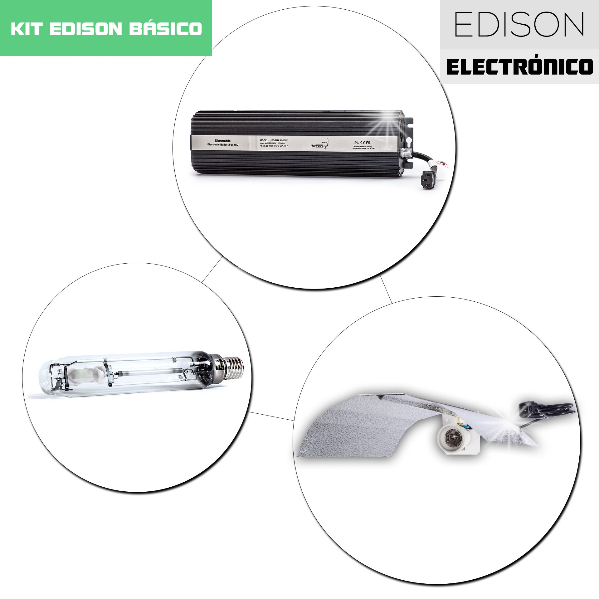 Kit Edison Electrónico 1000W Arco Dual