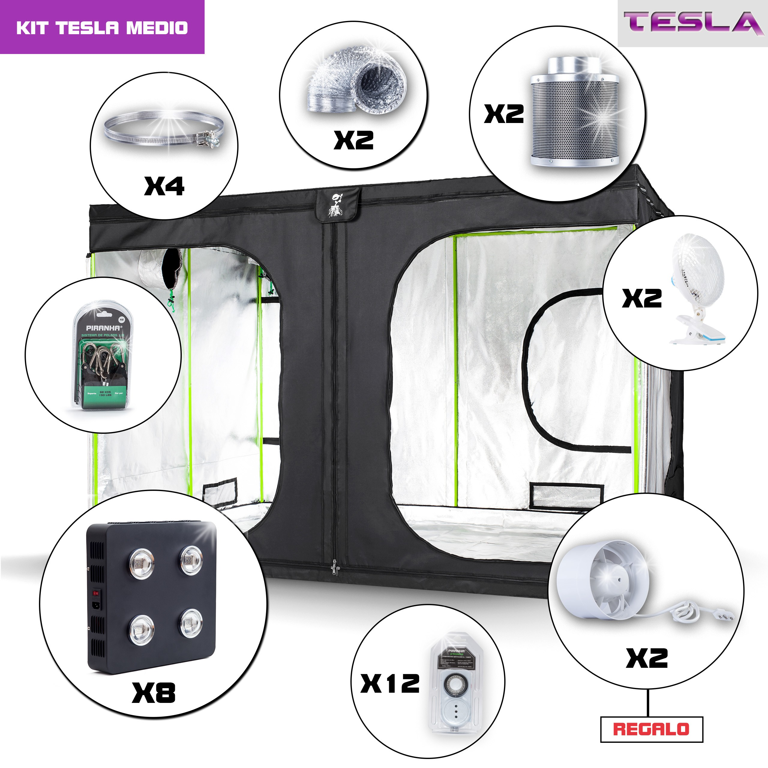 Kit Tesla Monster 3 - 2880W Completo
