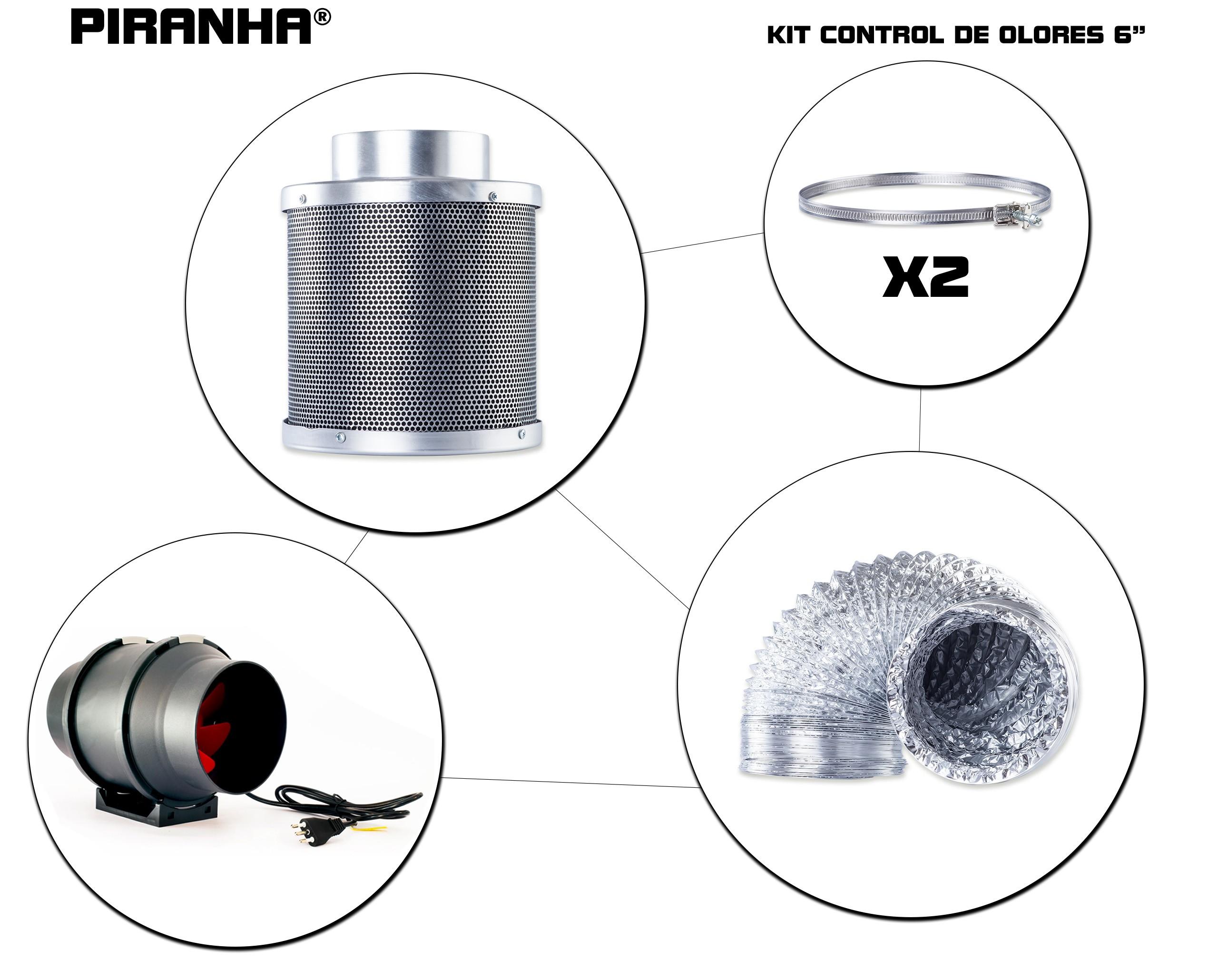 Kit Control de Olores 6''