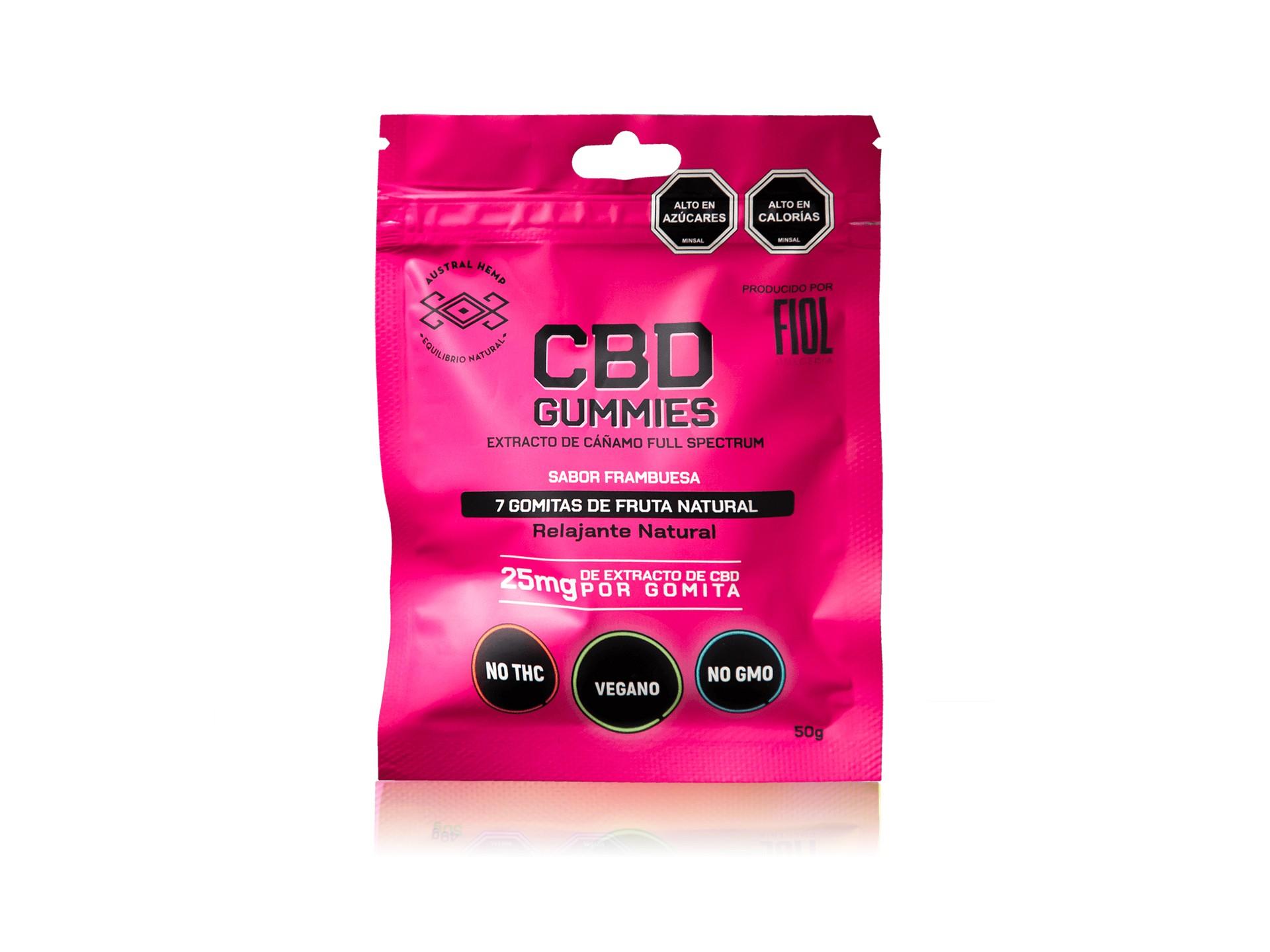 CBD Gummies 25 mg - Frambuesa