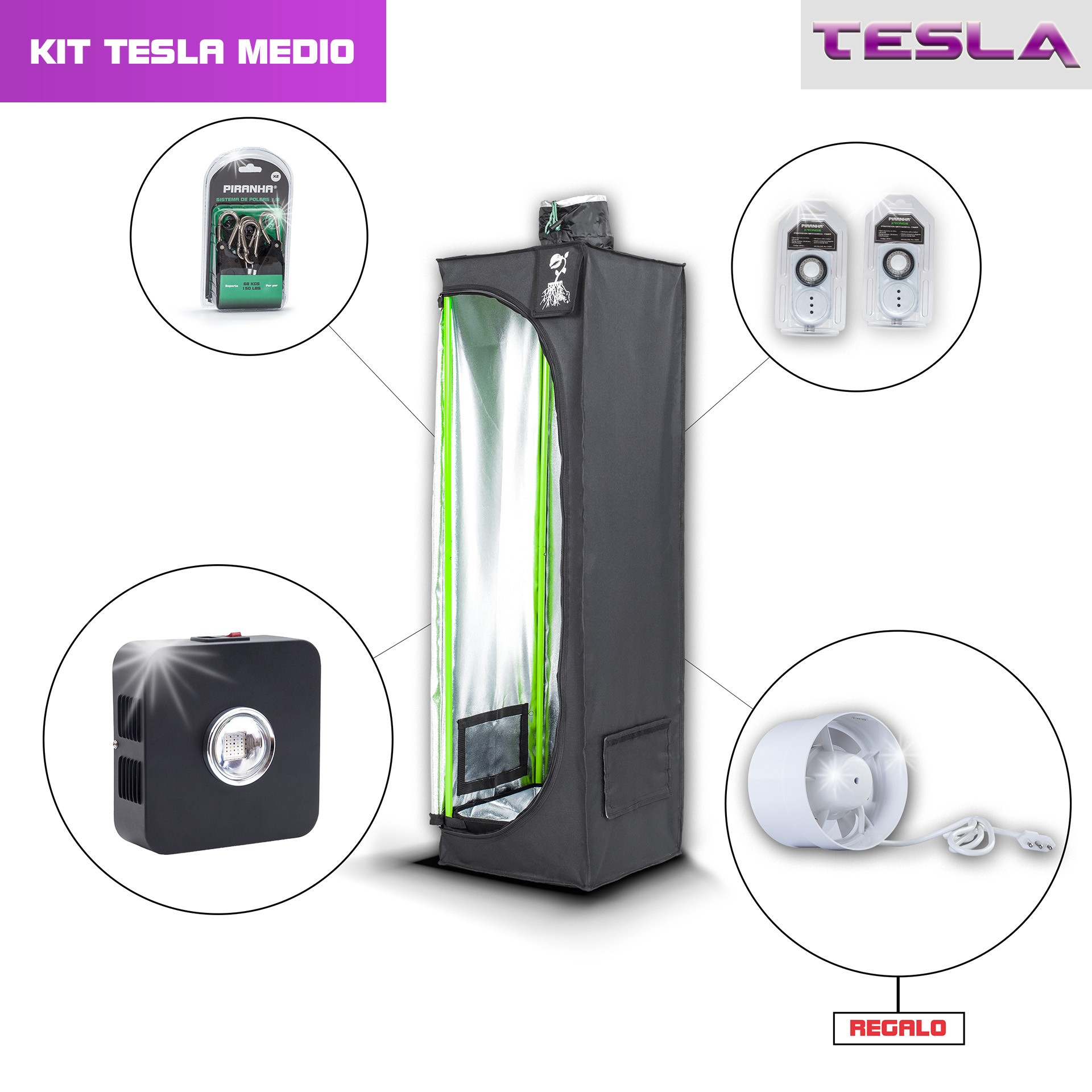 Kit Piranha Tesla 40 - T90W Medio