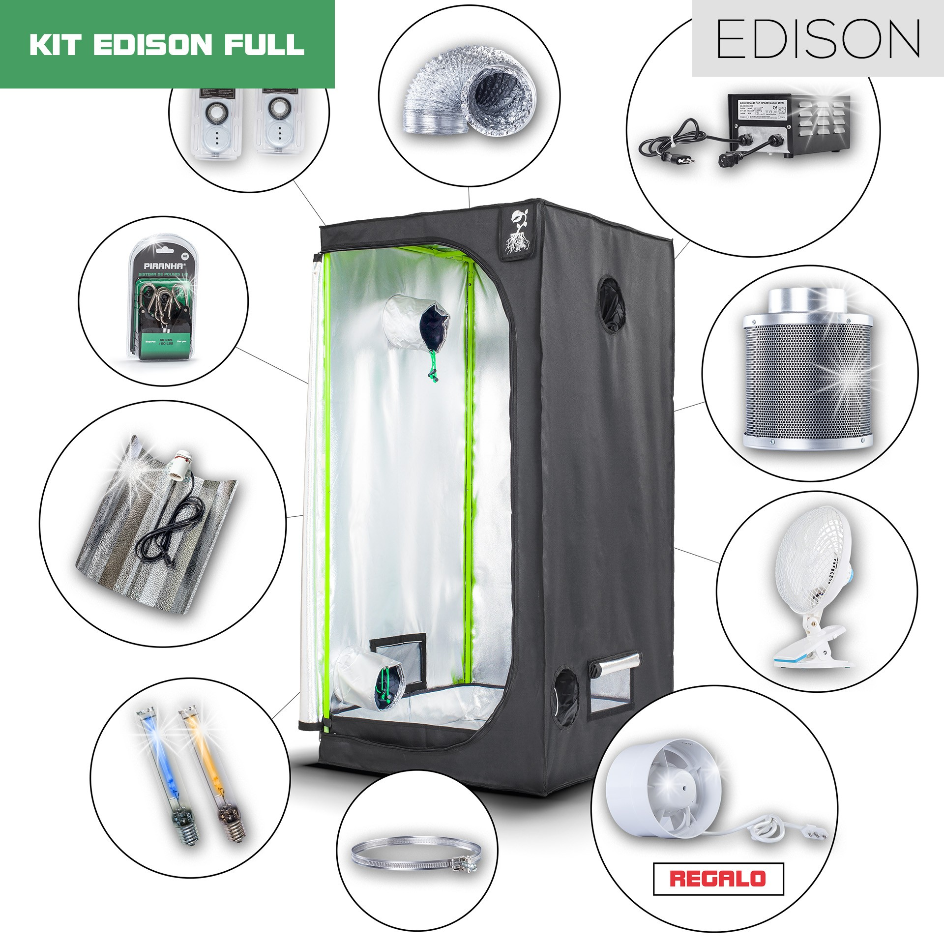 Kit Edison 80 - 250W Full