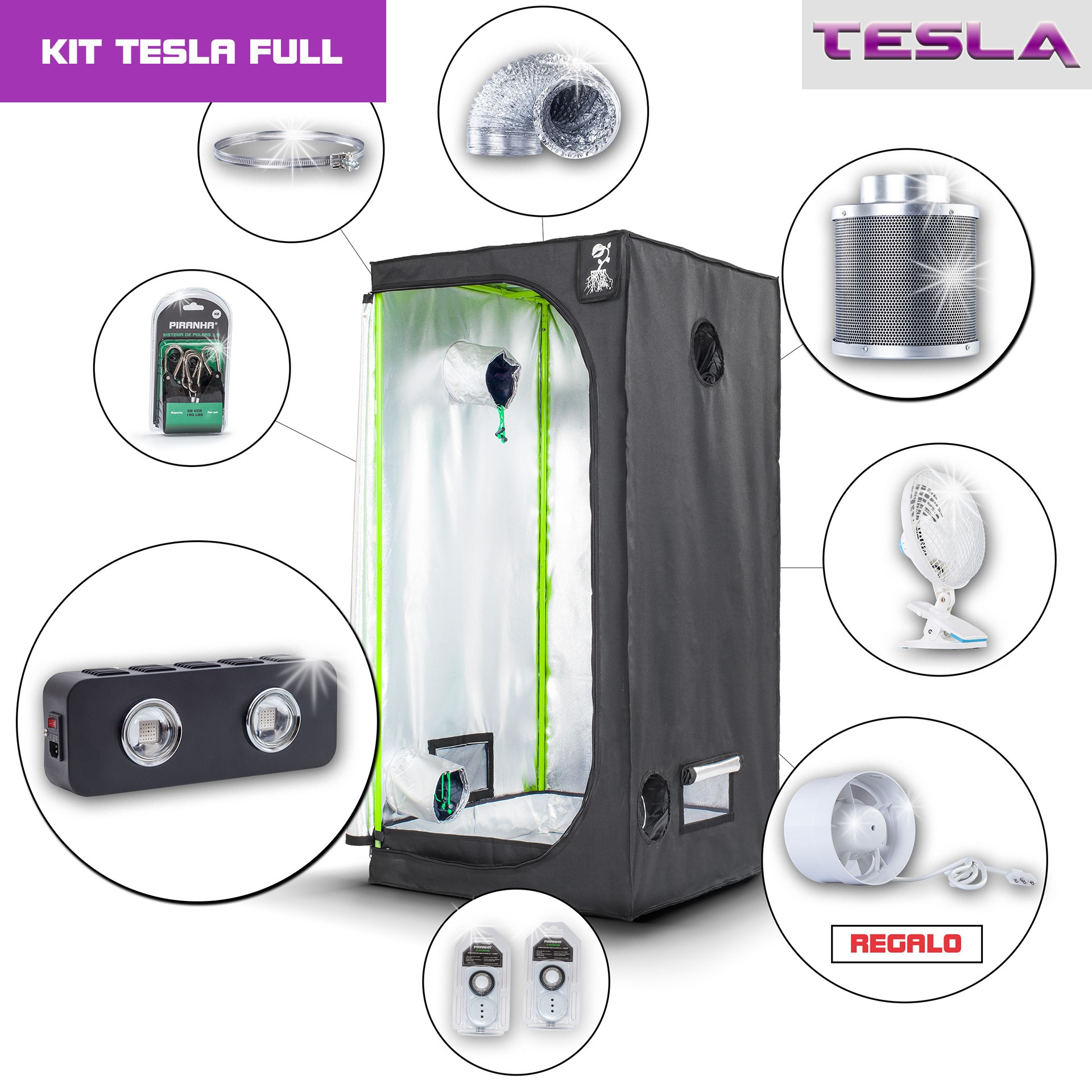 Kit Tesla 80 - T180W Medio