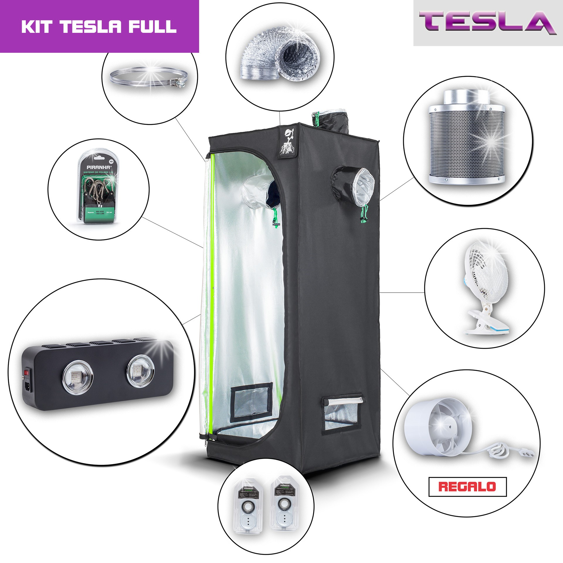 Kit Tesla 80 - T180W Full