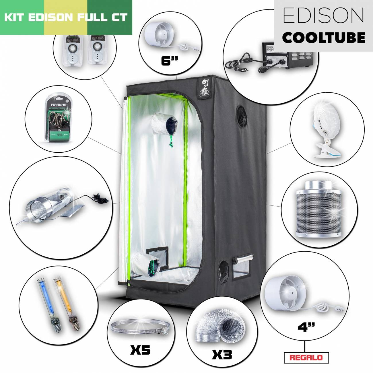 Kit Edison CoolTube 80 Completo 250W