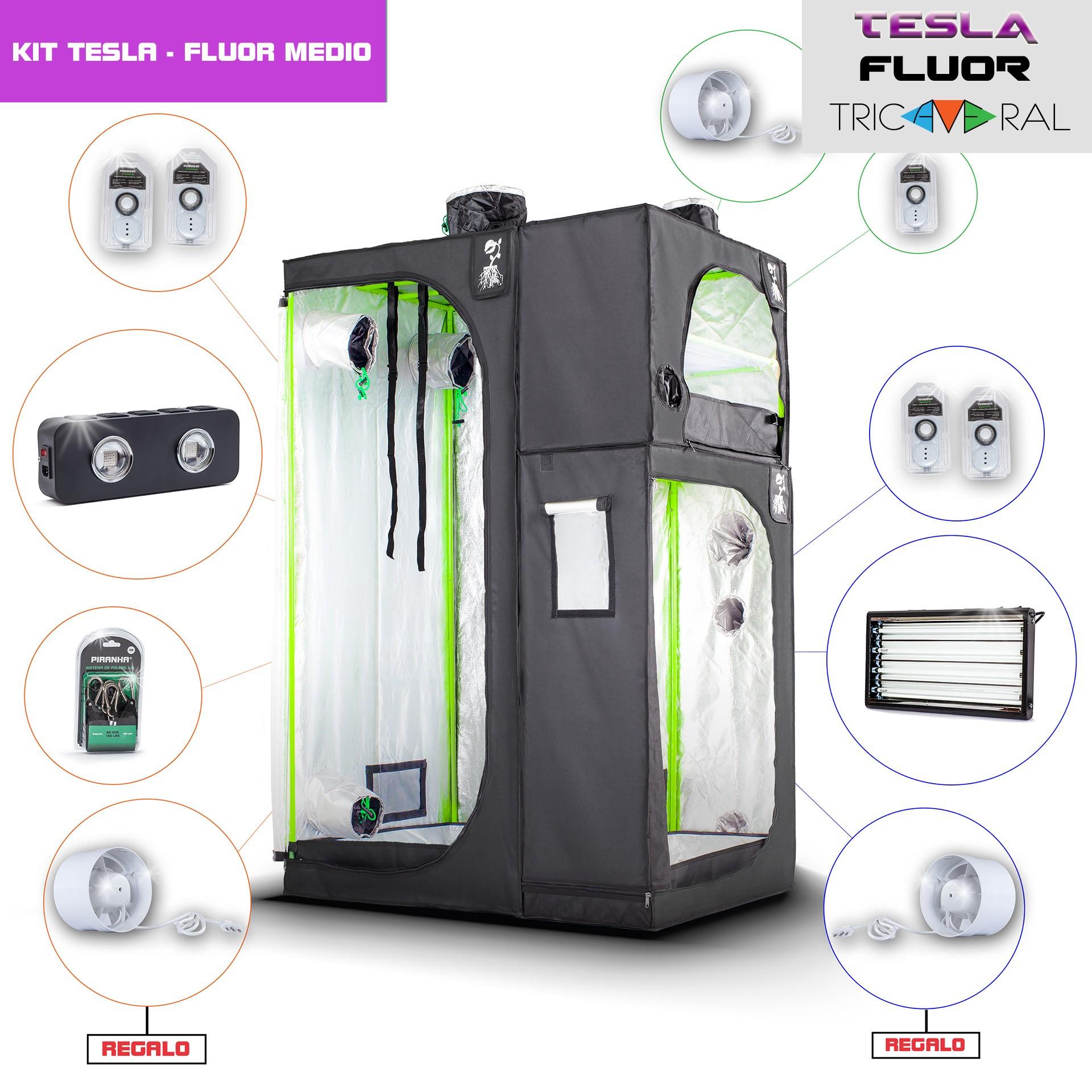 Kit Tricameral Tesla/Fluor-Medio