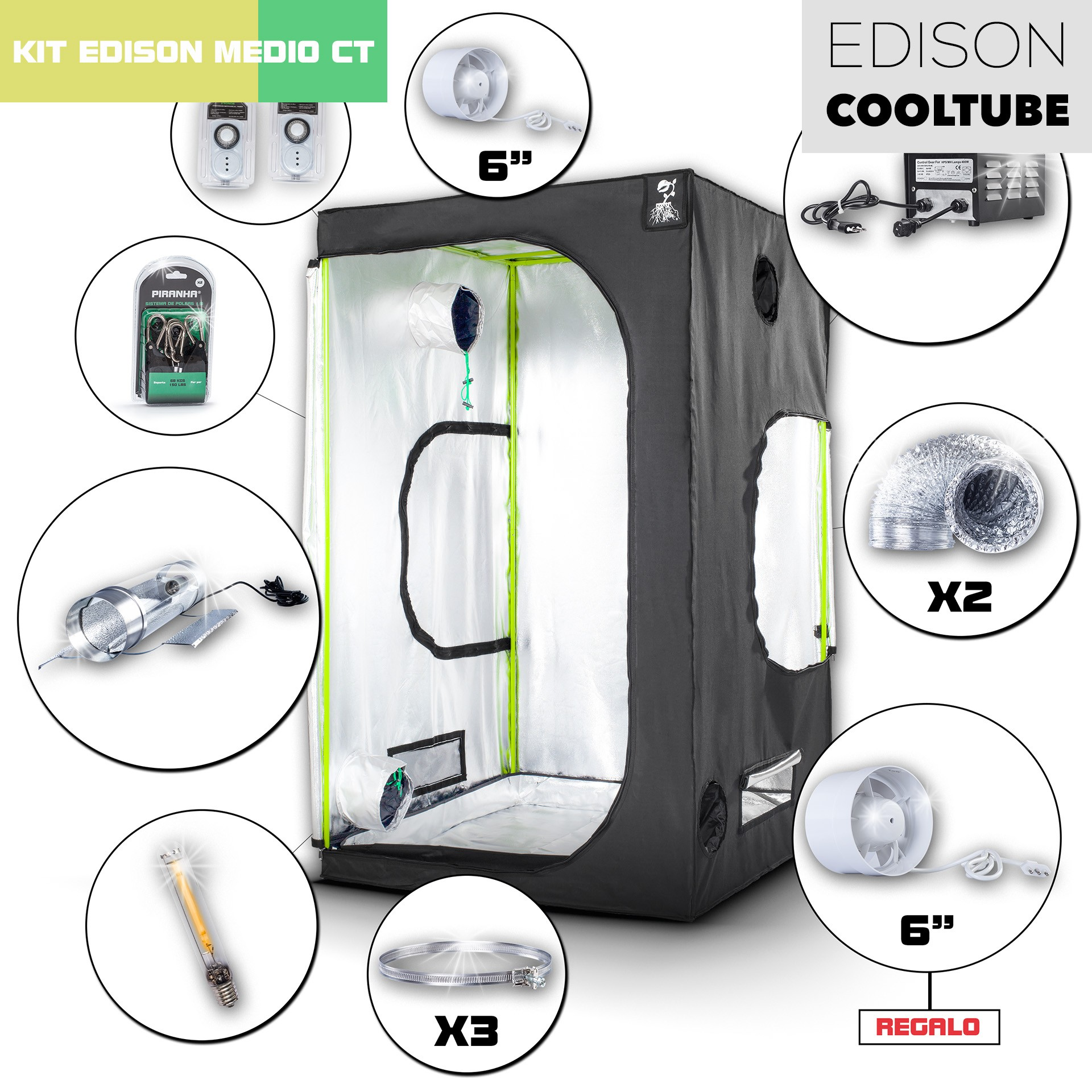 Kit Edison CoolTube 120 Medio 600W