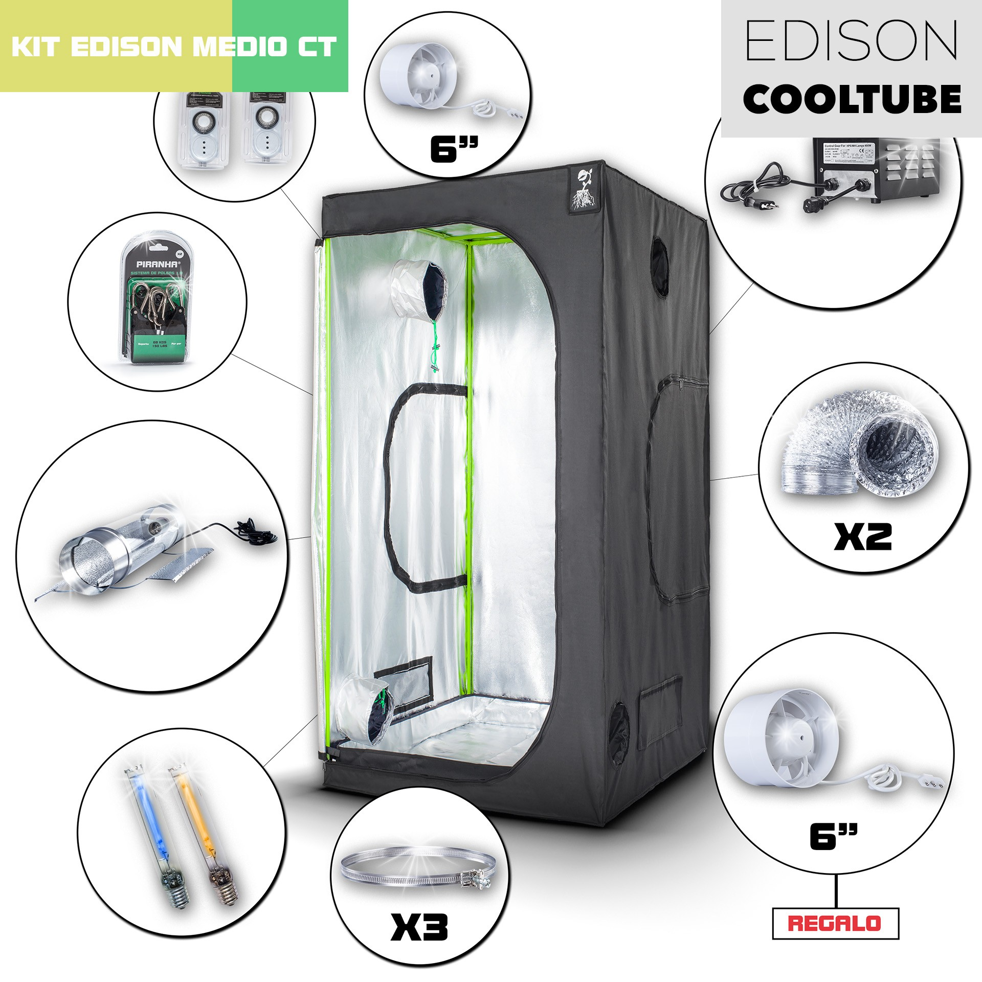 Kit Edison CoolTube 100 Medio 400W