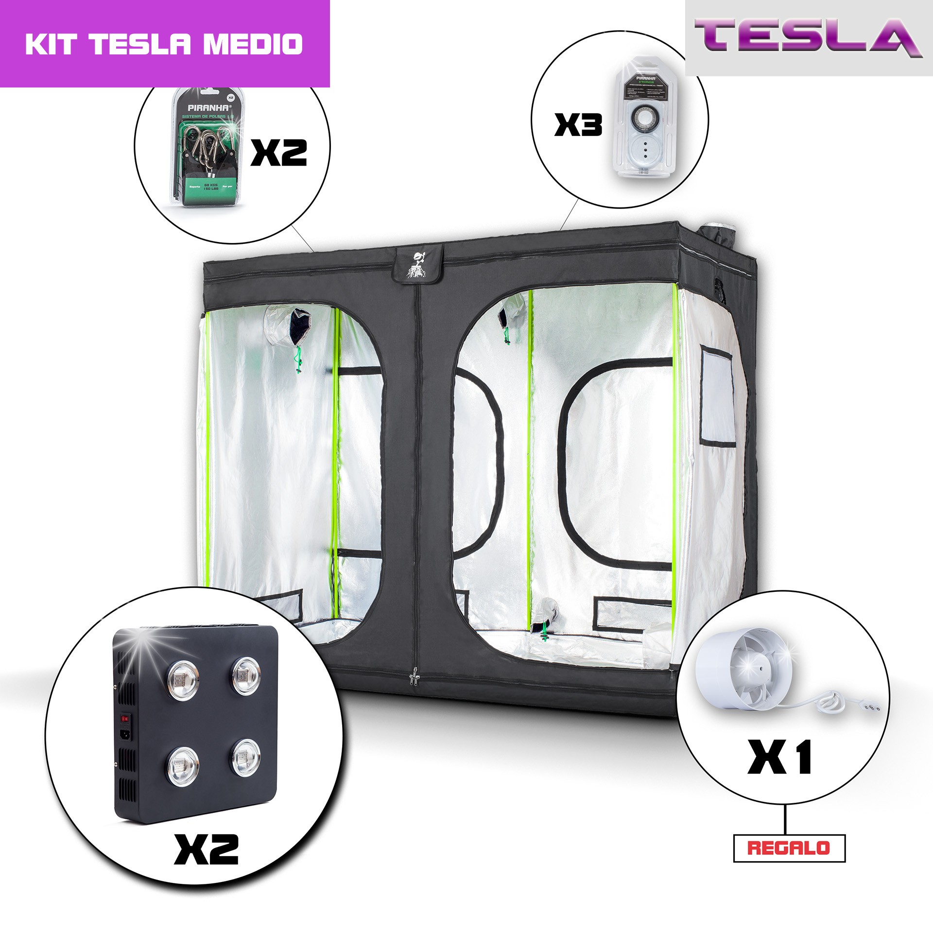 Kit Tesla 240 - T360W(X2) Medio