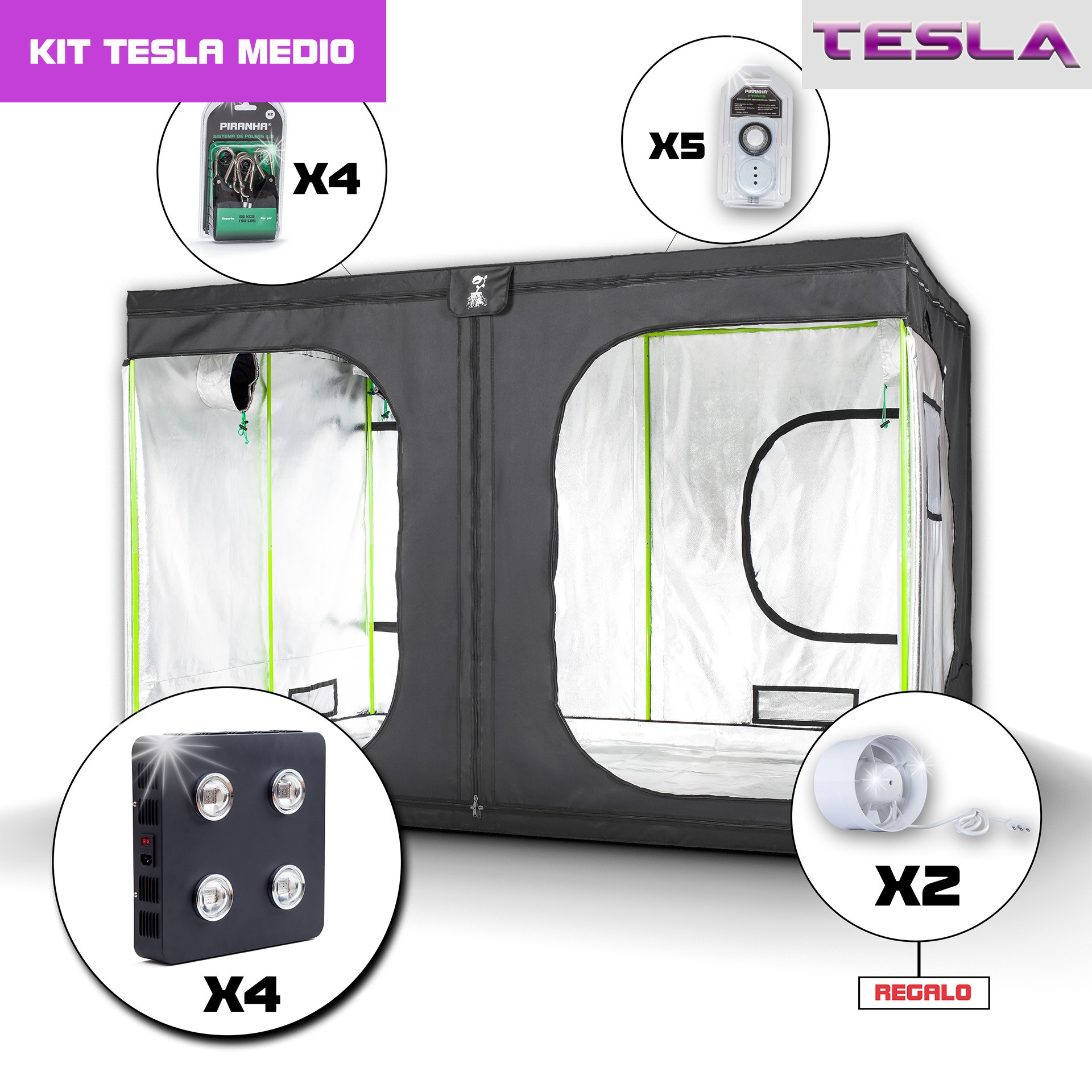 Kit Tesla 300 - T360W(X4) Medio