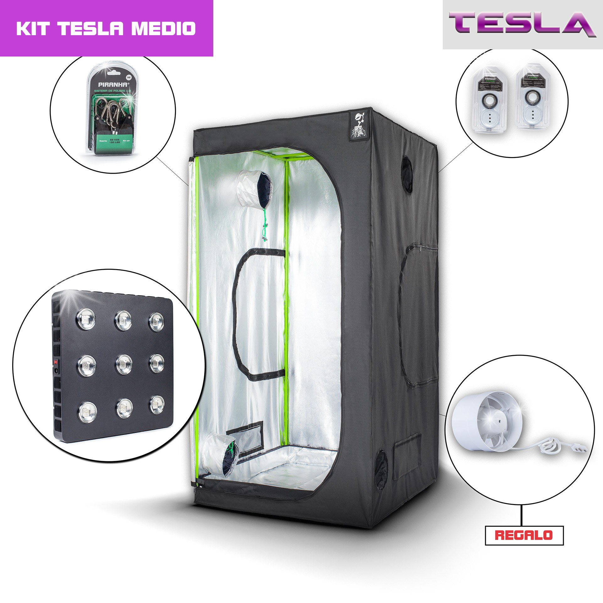 Kit Tesla 100 - T810W Medio